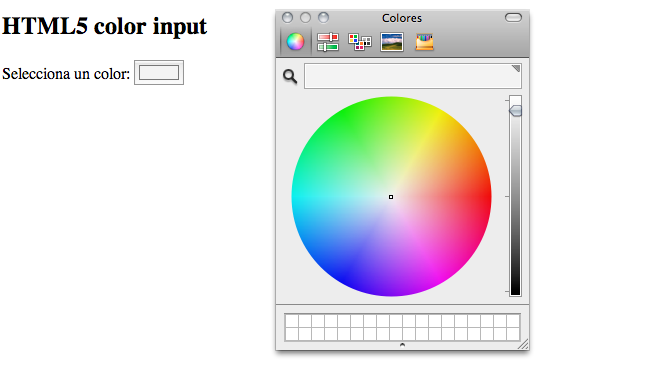 html5 color input