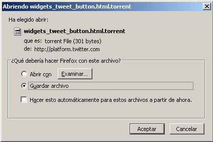 Un bug de Twitter inicia la descarga de un archivo torrent