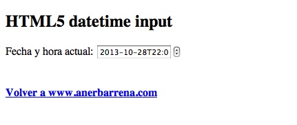 datetime input html5