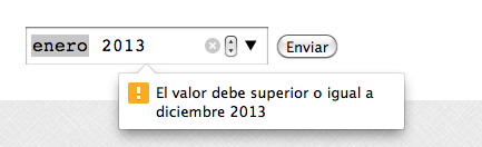 error html5 month input