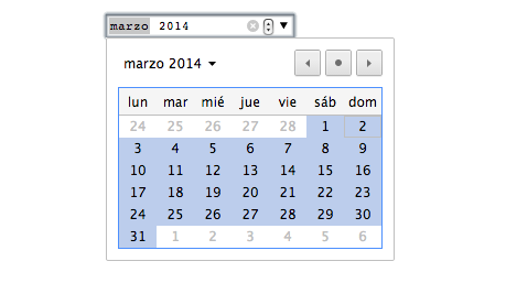 month input html5