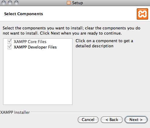 componentes de xampp