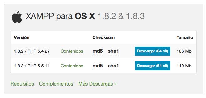 Cómo instalar un servidor local XAMPP en Mac OS X