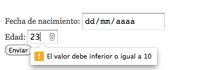validación number input