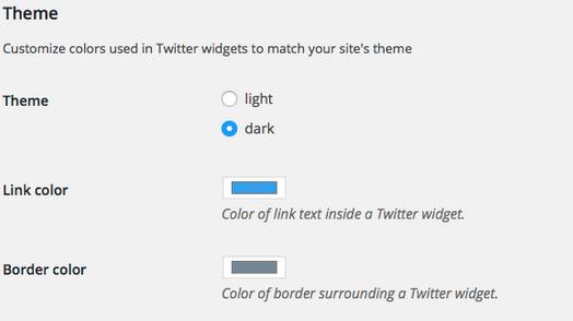 opciones estilos tweets