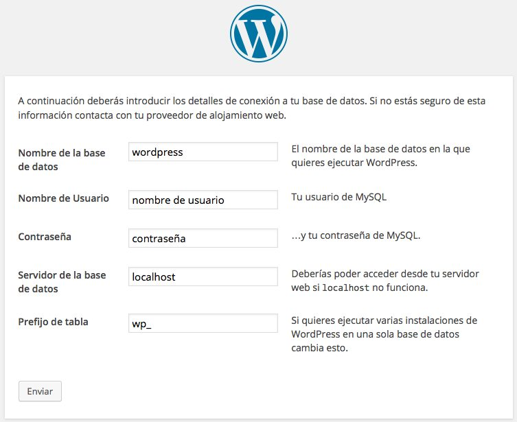 configurando wp-config.php WordPress