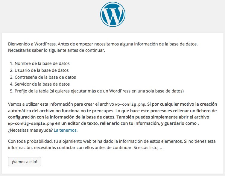 configurar wp-config.php WordPress