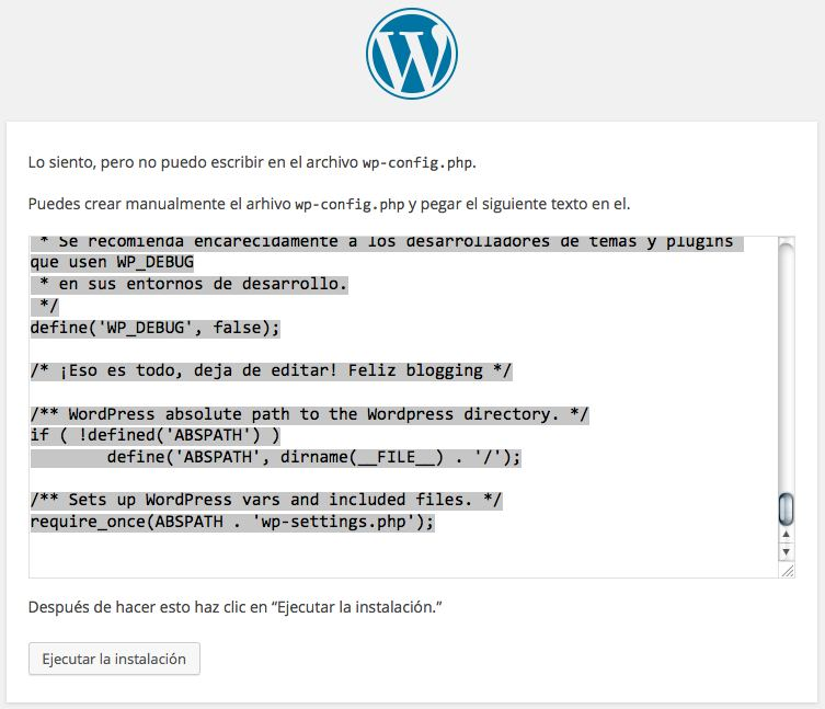 permisos wp-config.php WordPress