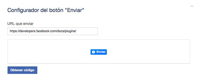 botón de enviar por Facebook