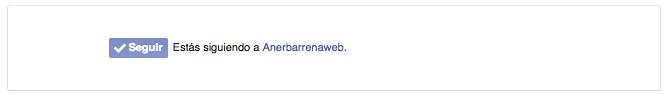 botón de seguir en Facebook