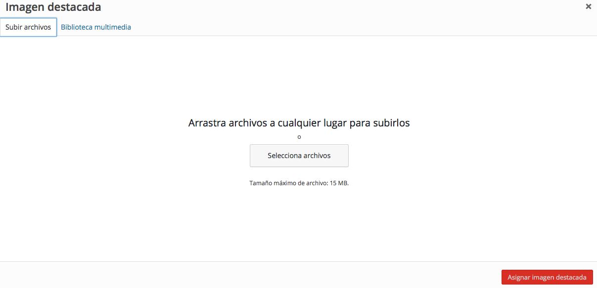 subir archivos s WordPress