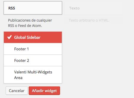 añadir widget en sidebar en WordPress