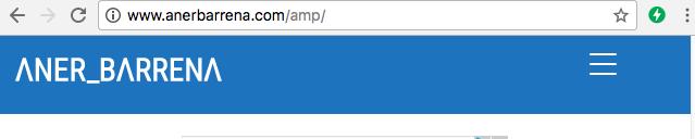 Web AMP válida