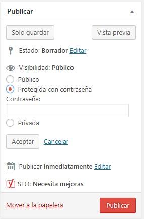 Cómo proteger una entrada de WordPress con contraseña