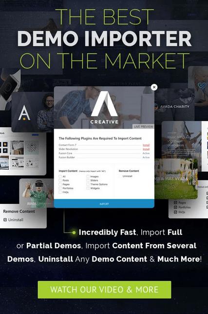Avada WordPress Theme demos