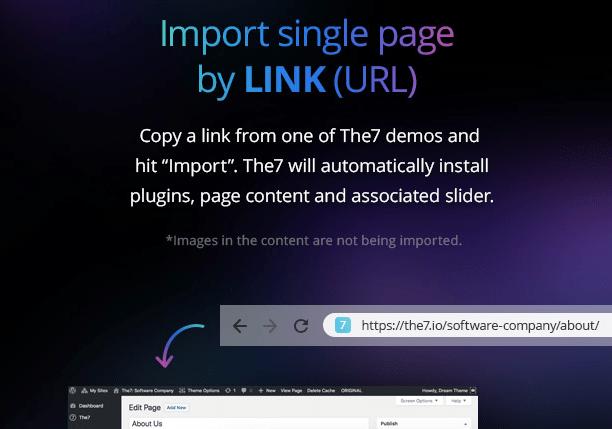 Importar páginas en la plantilla de WordPress The7