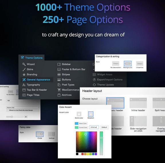 opciones the7 theme