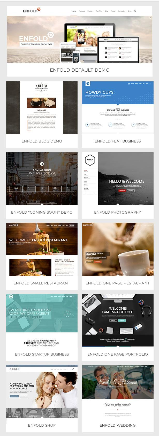 Enfold WordPress Theme Demos