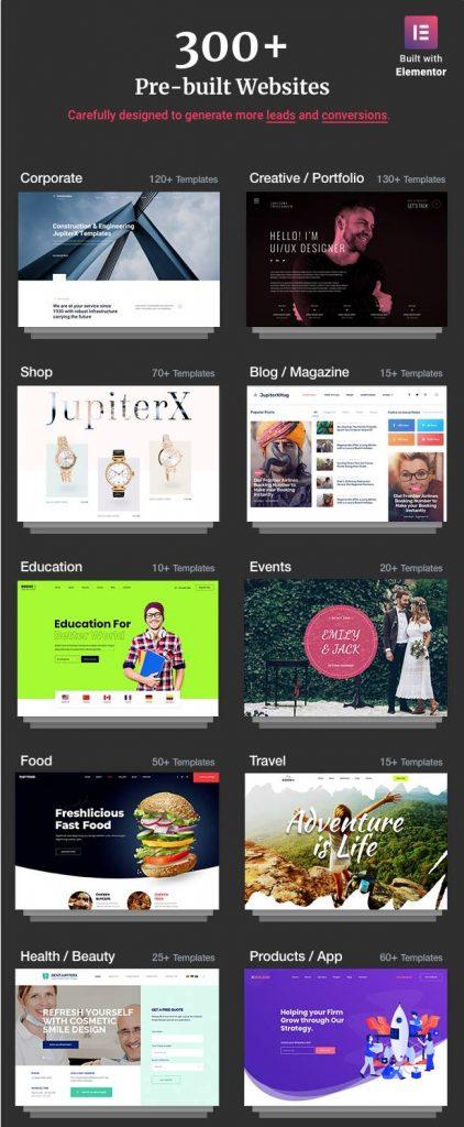 Jupiter WordPress Theme Demos